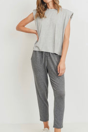 Stephanie tee, heather grey