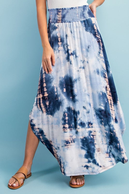 Lee tie Dye Skirt, blue