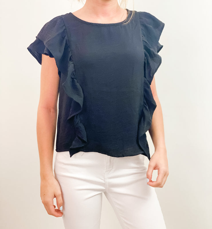 Stephanie flutter sleeve top
