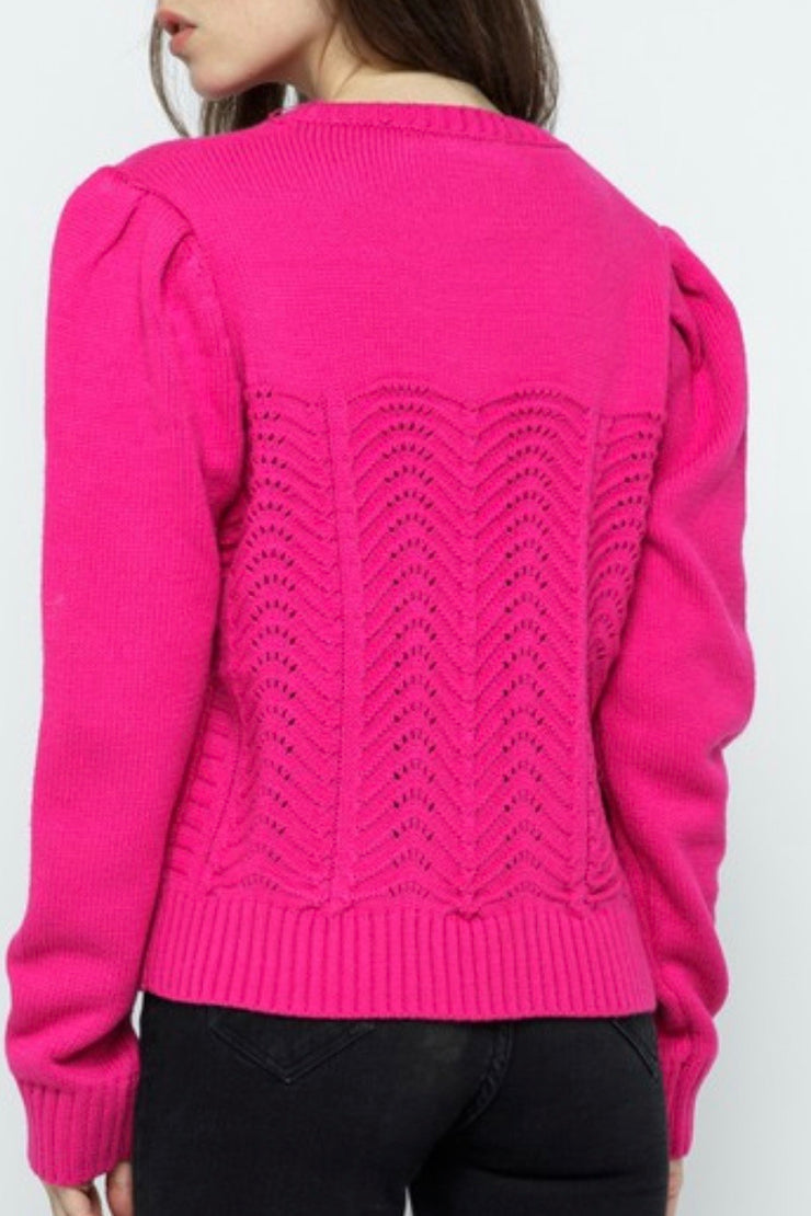 Tryon Pointelle Sweater, Pink