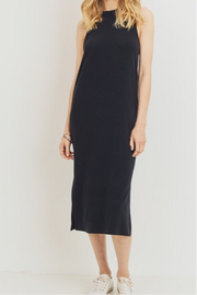 Lee Ann round neck Sleeveless Dress, Black