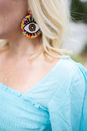 Natalie Evil Eye Earrings