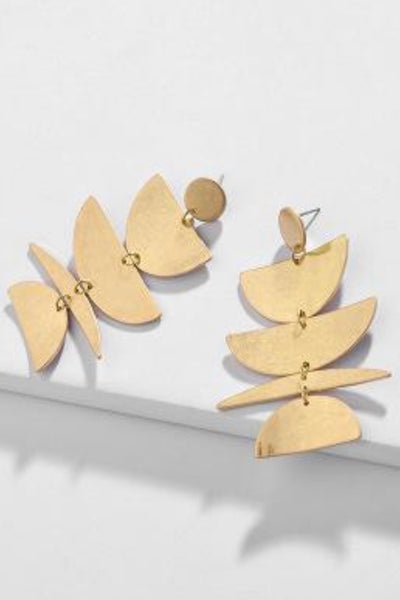 Jenny gold shape dangle earrings