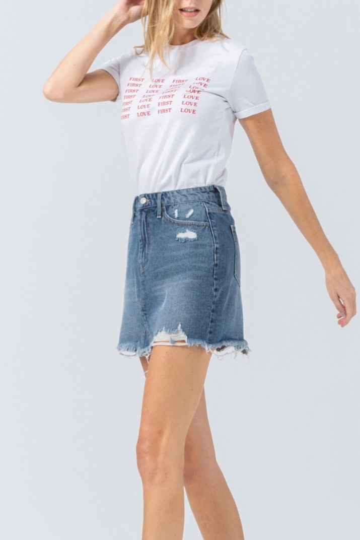 Allston jean skirt, denim