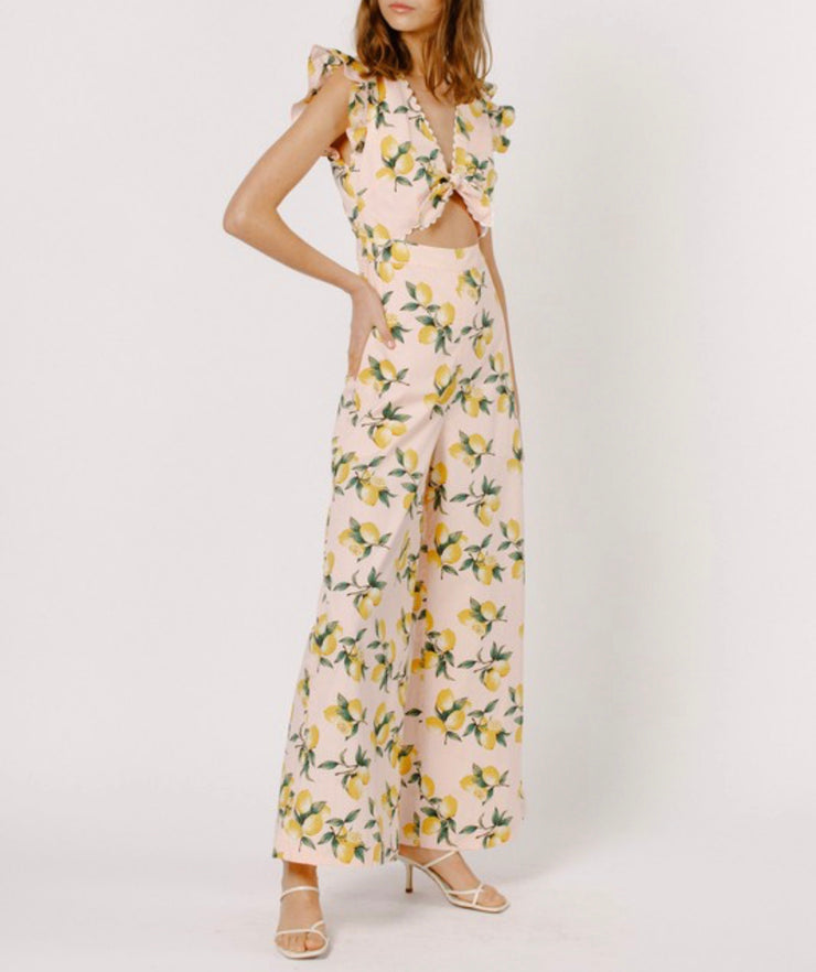 Emmy lemon jumpsuit
