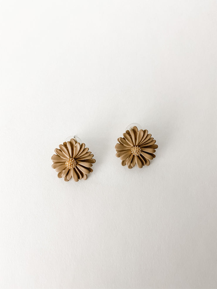 Mimi earrings, brown