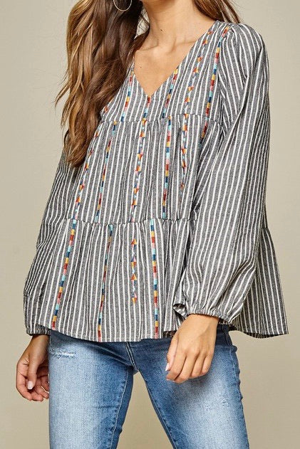 Staley Embroidered top