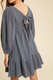 Ami gauze square neck dress
