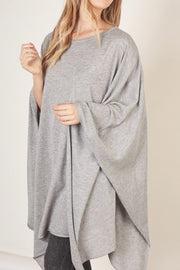 Calhoun poncho top, grey