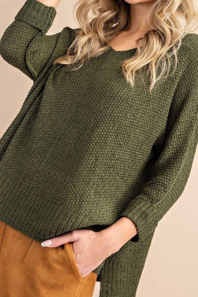 Blossom Sweater, olive