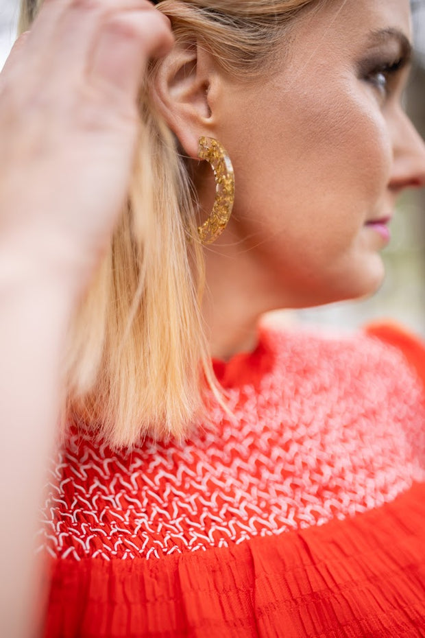 Yvonne hoop earrings, gold