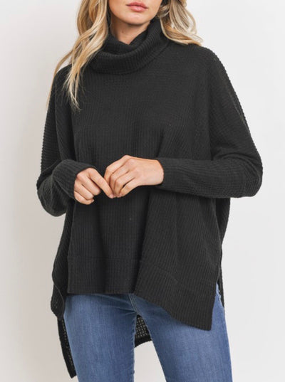 Blair oversized turtleneck top, black