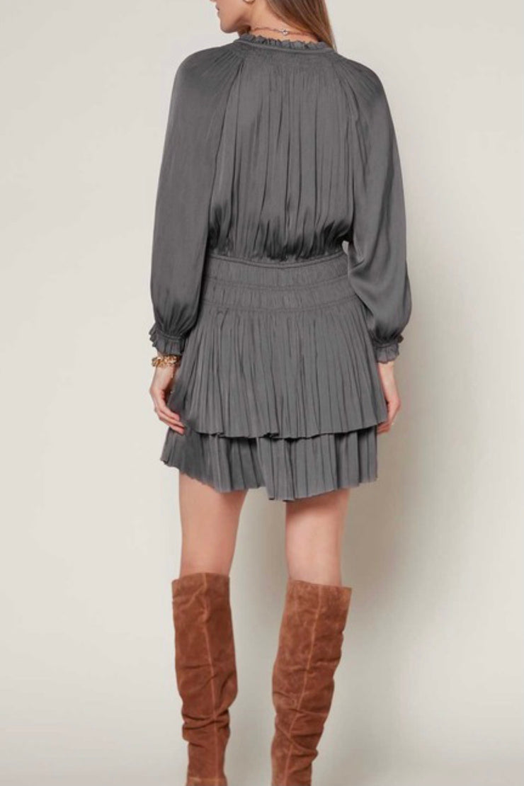 Strickland Pleated Mini Dress
