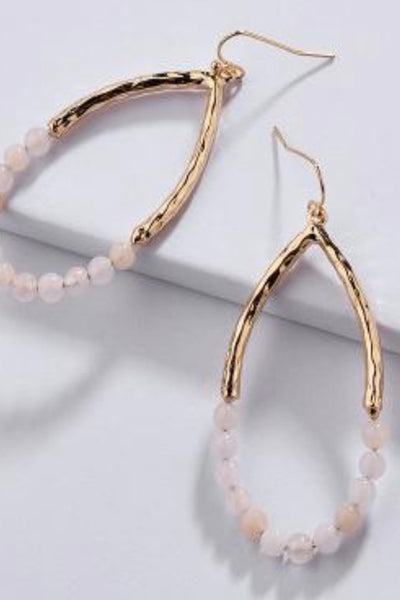 Alexandra gold bead earrings