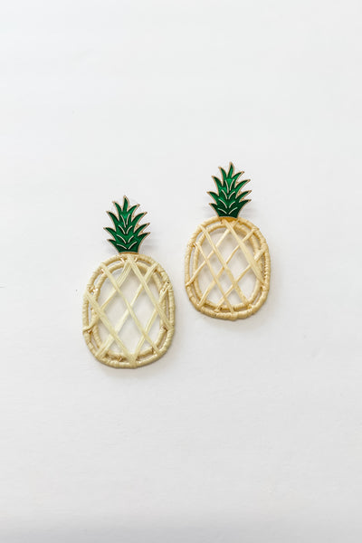 Kelli pineapple earrings