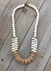 Atlantic Ave. necklace, white