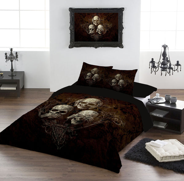 Alchemy Gothic See No Evil Duvet Cover Set - FAULTY PRINTING ERROR