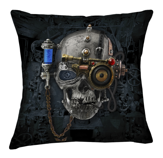 Steampunk Necronaut Cushion