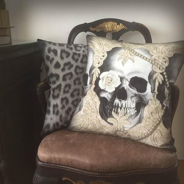 Lace Skull Cushion