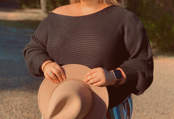 Off Shoulder Sleeve Sweater