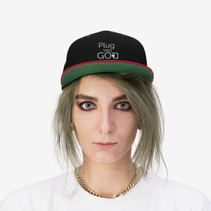 PLUG INTO GOD Flat Bill Hat