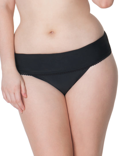 Curvy Kate Jetty Fold Over Brief Black