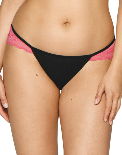Curvy Kate In Love With Lace Brazilian Black/Pink