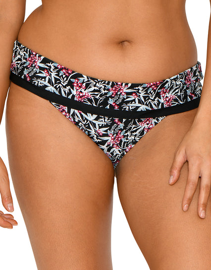 Curvy Kate Maya Fold Bikini Brief Monochrome/Berry