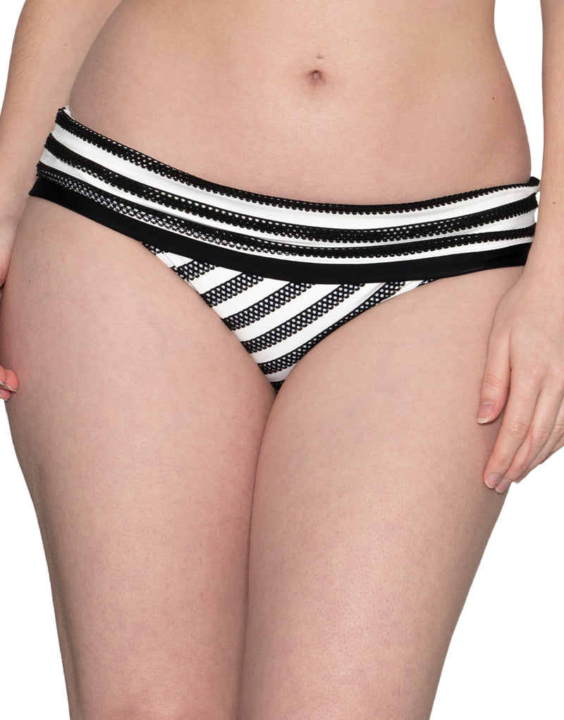 Curvy Kate Sunseeker Foldover Bikini Brief Monochrome