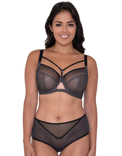 Curvy Kate Victory Pin-Up Balcony Bra Black/Slate