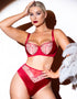 Scantilly Fallen Angel Balcony Bra Garnet Red