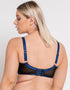 Scantilly Submission Plunge Bra Black/Blue