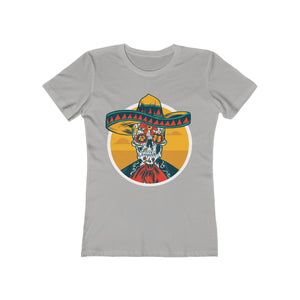 Mexican Skeleton with Sombrero | Super Soft Women's Tee