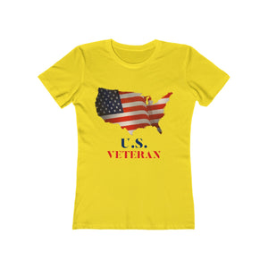 US Veteran American Flag | Super Soft Women's Tee