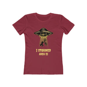 I Stormed Area 51 BMX Rider | Super Soft Women's Tee