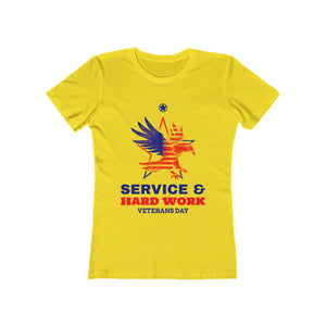 Service and Hard Work | Super Soft Women's Tee
