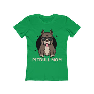 Pitbull Mom - Women's Boyfriend Tee | Pet Tee - PremiumTees.Co