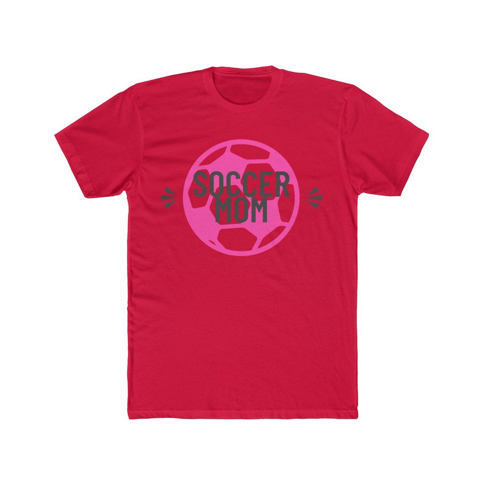 Soccer Mom With Ball | Super Soft Men's Tee