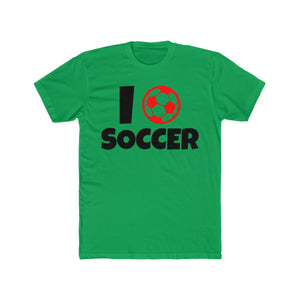 I Ball Heart Love Soccer | Super Soft Men's Tee