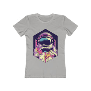 Astronaut with Donut and Pizza | Super Soft Women's Tee