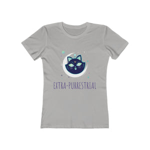 Extra Purrestrial Cat Moon | Super Soft Women's Tee