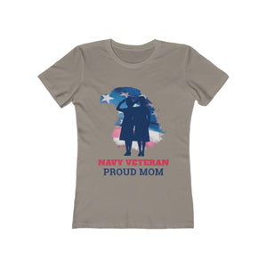 Navy Veteran Proud Mom | Super Soft Women's Tee