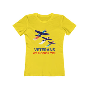 Veterans We Honor You | Super Soft Women's Tee