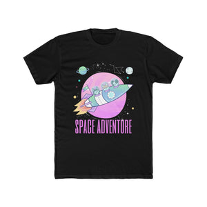 Space Adventure Dogs Rocket | Super Soft Men's Tee