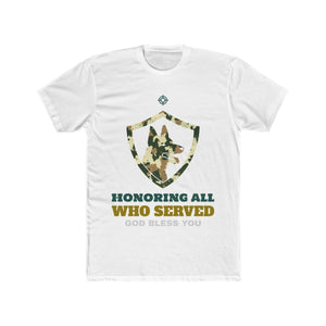 Honoring All Who Served, God Bless You | Unisex Shirt | Veterans - PremiumTees.Co