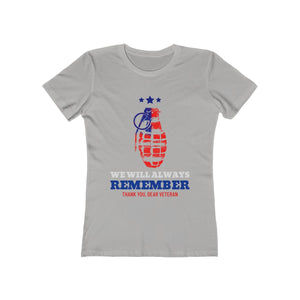 We Will Always Remember, Thank You Dear Veteran | Super Soft Women's Tee