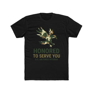 Honored To Serve You, US Air Force Veteran | Super Soft Men's Tee