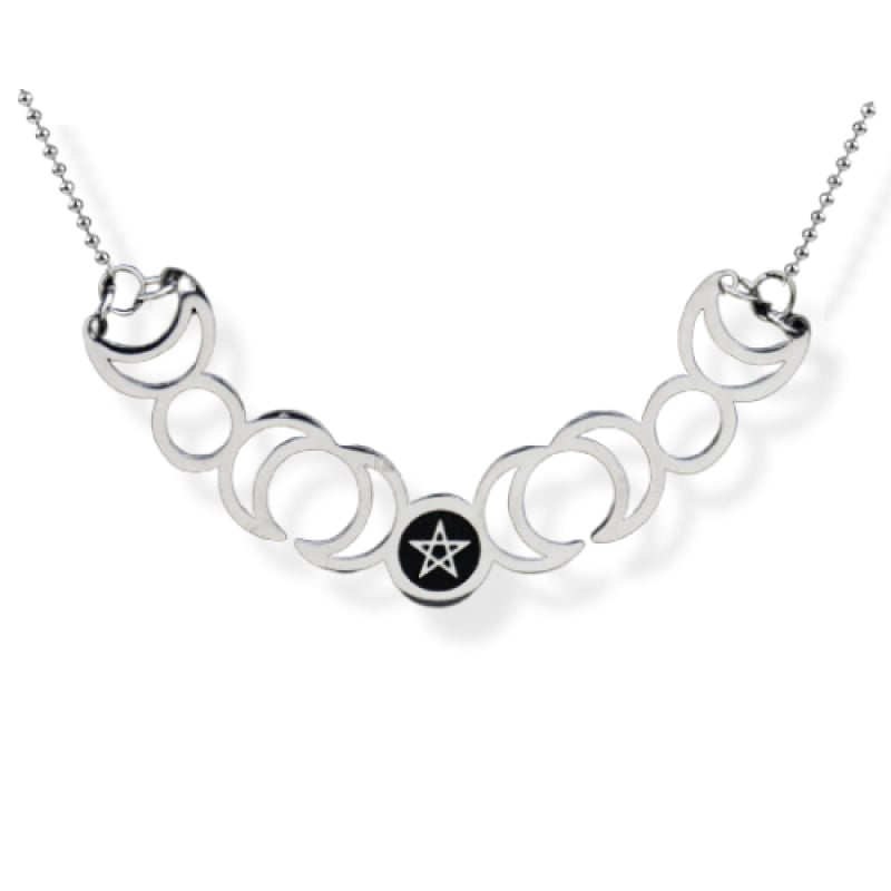 Collier triple lune
