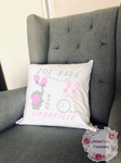 Birth Announcement Pillow - Elephant