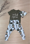 Wild and Free matching pant set: Babies